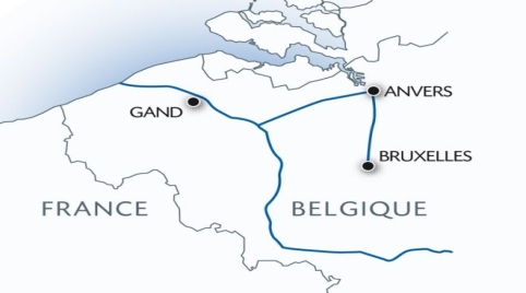 Belgium Christmas River Cruise Map